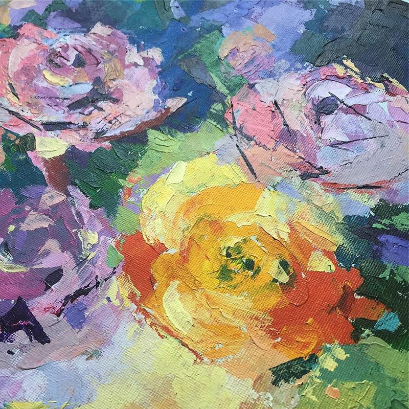 Anna Lipowska Abstrakcja Kwiaty Akryl Oryginał 0203