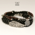 LIKE AN ANGEL (leather strap) - komplet bransolet