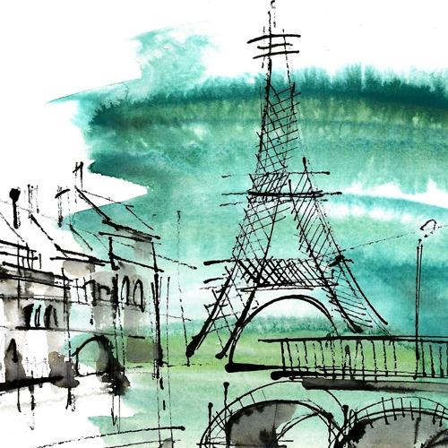 EMERALD CITY 2 RYSUNEK AKWARELA Twórca: Karolina Kierat