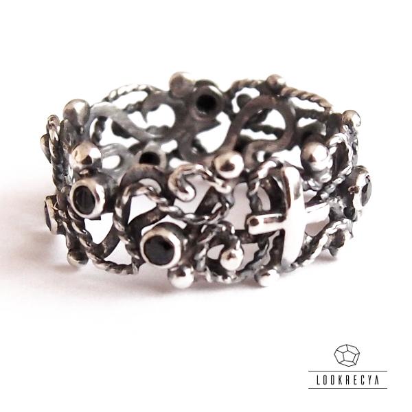 0839b853034d04 ... ciernisty... srebrny różaniec na palec / lookrecya / Biżuteria /  Pierścionki