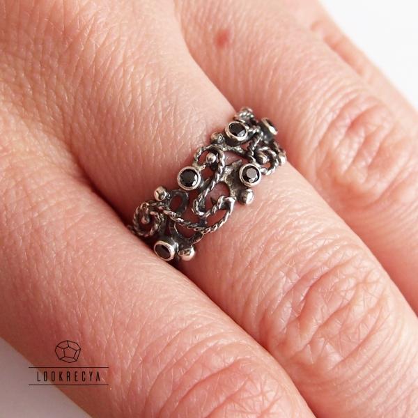 b6106542d8fa0c ... ciernisty... srebrny różaniec na palec / lookrecya / Biżuteria /  Pierścionki ...