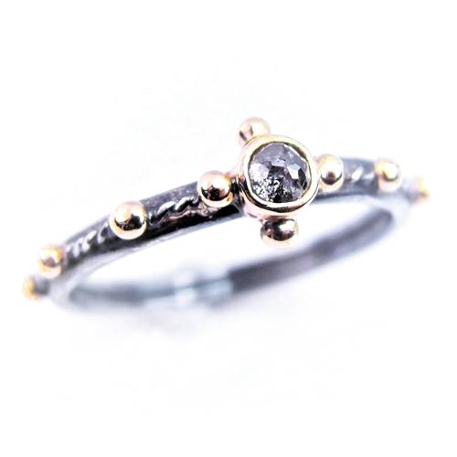 1babf9a32c2ab7 diamond pray... srebrno-złoty różaniec z diamentem / lookrecya / Biżuteria  ...
