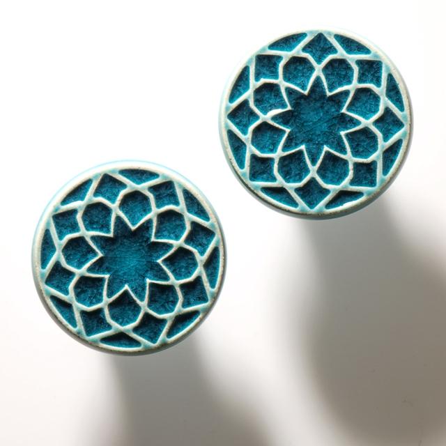 Pracowniazona Uchwyty Ceramiczne Do Mebli Turkus Wzi